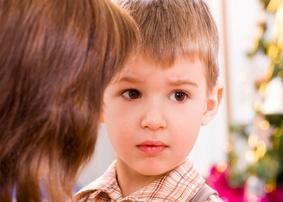 upset preschooler boy
