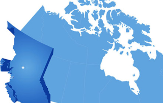 Map of Canada - British Columbia province